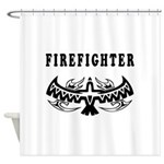 Firefighter Eagle Tattoo Shower Curtain
