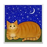Orange Tabby CAT Art Tile