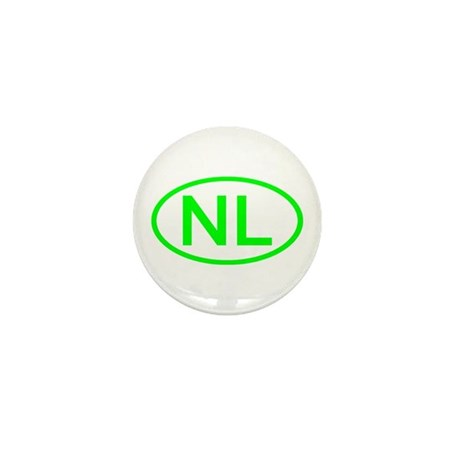 Netherlands - NL Oval Mini Button (10 pack)