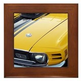 Yellow Ford Mustang CobraJet Framed Tile