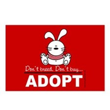 Adopt a bunny Postcards (Package of 8)