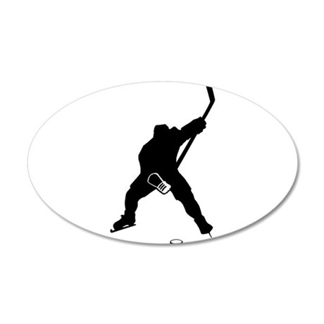 Hockey Player 35x21 Oval Wall Decal