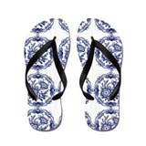 blue delft Flip Flops