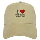 I love engineering technicians Baseball Cap