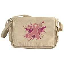 Breast Cancer Splatter Messenger Bag