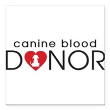 "Canin Blood Donor Square Car Magnet 3"" x 3"""