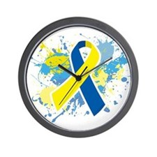 Down Syndrome Splatter Wall Clock