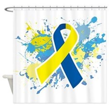 Down Syndrome Splatter Shower Curtain