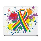 LGBTQ Paint Splatter Mousepad
