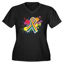 LGBTQ Paint Splatter Plus Size T-Shirt
