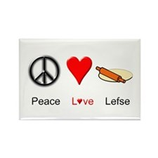 Peace Love Lefse Rectangle Magnet (100 pack)