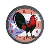 Puerto Rico Gamecock Wall Clock