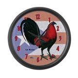Puerto Rico Gamecock Large Wall Clock