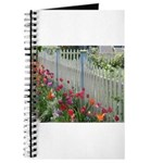 Tulips Along White Picket Fence Journal