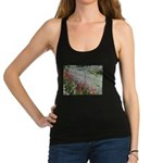 Tulips Along White Picket Fence Racerback Tank Top