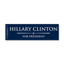Vote Hillary Clinton Car Magnet 10 x 3