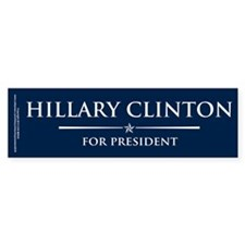 Vote Hillary Clinton Bumper Sticker