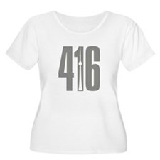 416 CN TOWER Gray Plus Size T-Shirt