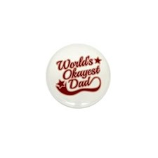 World's Okayest Dad Red Mini Button (100 pack)