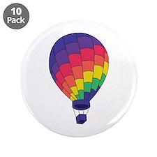 """Hot Air Balloon 3.5"""" Button (10 pack)"""