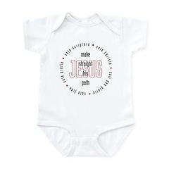 straight path Infant Bodysuit