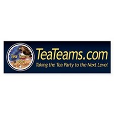Tea Teams bumper sticker