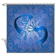 Sun Worship in Blue Shower Curtain