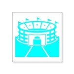 Cyan Stadium Square Sticker 3