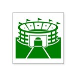Green Stadium Square Sticker 3