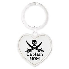 Captain Mom Heart Keychain