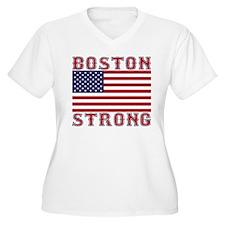 BOSTON STRONG U.S. Flag Plus Size T-Shirt