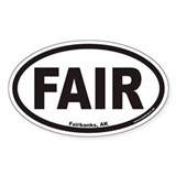 Fairbanks Alaska FAIR Euro Oval Decal