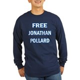 Free Jonathan Pollard Navy or Black Long Sleeve T