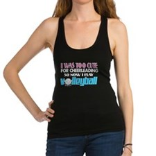 Too Cute Volleyball Racerback Tank Top