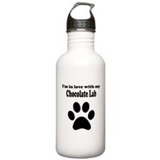 Im In Love With My Chocolate Lab Water Bottle