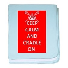 Keep Calm and Cradle On baby blanket