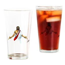 Thy will be badass Drinking Glass
