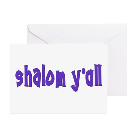 JEWISH SHALOM Y'ALL Greeting Cards (Pk of 10)