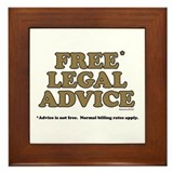 Free Legal Advice (2) Framed Tile