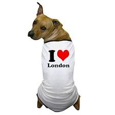 I Heart (Love) London Dog T-Shirt