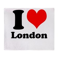 I Heart (Love) London Throw Blanket
