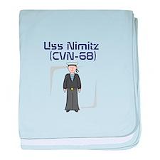 USS Nimitz baby blanket