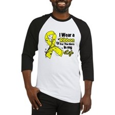 Ribbon Hero Testicular Cancer Baseball Jersey