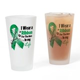 Ribbon Hero Liver Cancer Drinking Glass