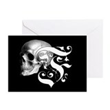 Gothic Skull Initial F Greeting Cards (Pk of 10)