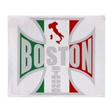 Italian Boston Pride Throw Blanket
