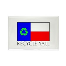 Recycle Ya'll Rectangle Magnet