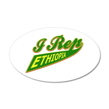 I rep Ethiopia 35x21 Oval Wall Decal
