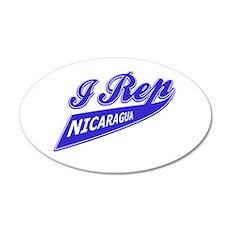 I rep Nicaragua 20x12 Oval Wall Decal