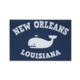 New Orleans Whale Tour Rectangle Magnet